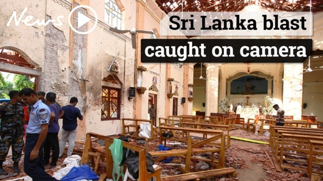 Sri Lanka blast: Bomb explosion caught on camera