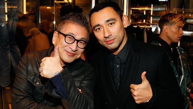 Masamichi Katayama (left) and Artistic Director, Nicola Formichetti at Diesel. (Photo by Paul Morigi/Getty Images for DIESEL)
