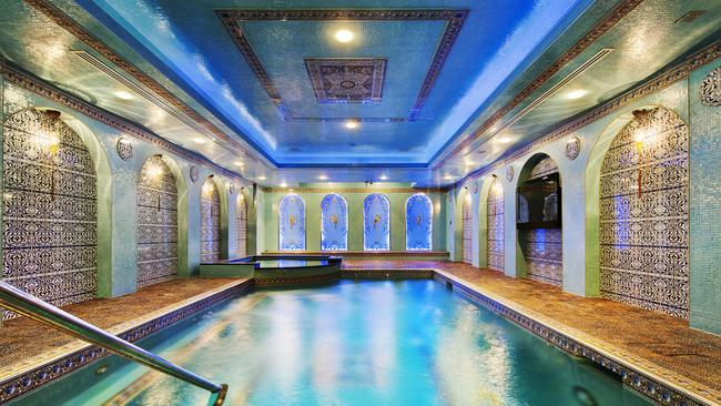 The amazing indoor swimming pool was one of New York City's Top Ten City Homes with Private Pools. Picture: Warburg Realty.