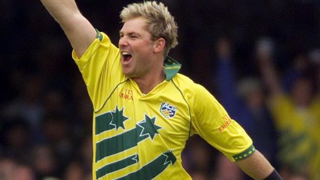Shane Warne during Australia's triumphant 1999 World Cup tilt.