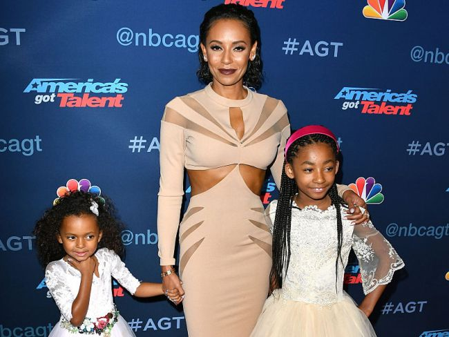 Mel B and daughters arrive at 'America's Got Talent' Season 11 Finale in Hollywood. Photo: Steve Granitz/WireImage via Getty.