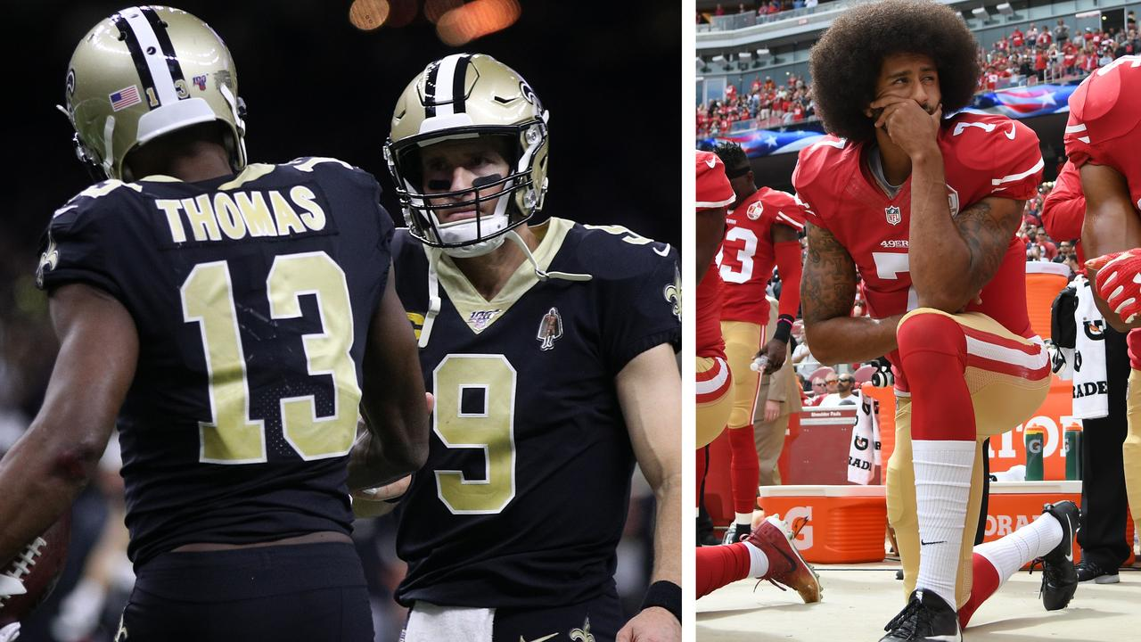 Drew Brees, Mike Thomas and Colin Kaepernick.