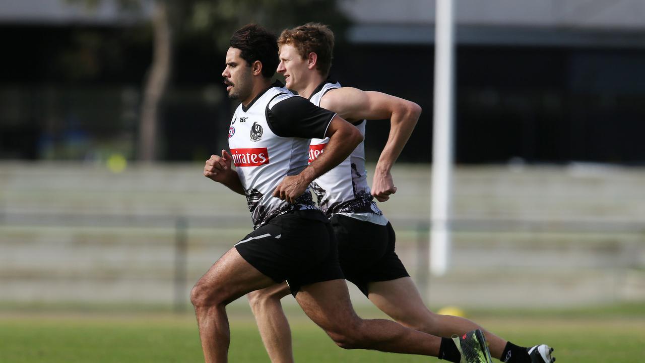 Daniel Wells and Will Hoskin-Elliott running at the Holden Centre.