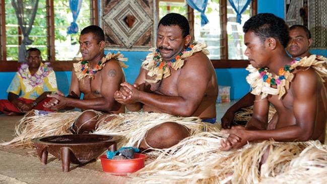 A traditional kava ceremony in Fiji. For Escape travel. Picture: Fiji Tourism