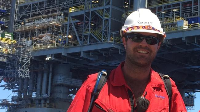 Royce Hunter worked offshore for the oil and gas industry in a FIFO basis for 13 years. Picture: Supplied