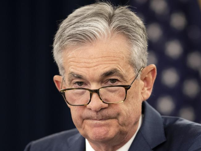 US Federal Reserve Chairman Jerome Powell has been called upon by Donald Trump to cut interest rates by at least a full percentage-point to improve the economy. Picture: AP Photo