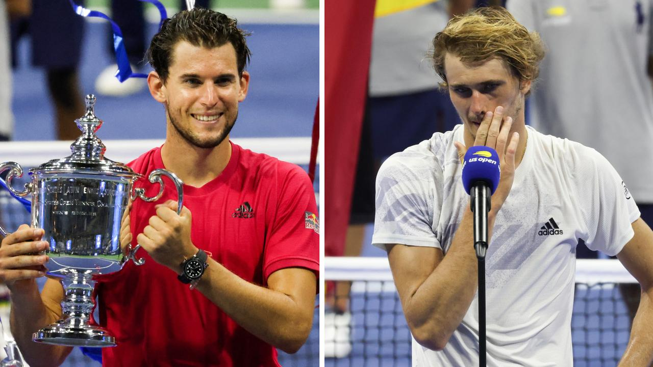 Dominic Thiem and Alexander Zverev after the final.