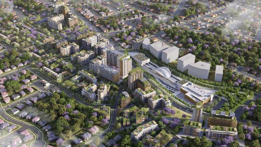 Toplace proposal for 46 high-rise towers at Cherrybrook.