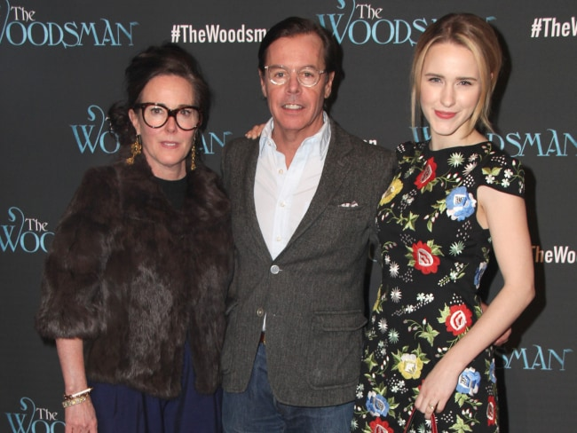 Kate Spade, Andy Spade and Rachel Brosnahan. Photo: Splash News