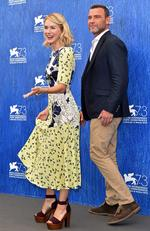 Naomi Watts and Liev Schreiber attend a photocall for 'The Bleeder' during the 73rd Venice Film Festival on September 2, 2016 in Venice, Italy. Picture: Getty