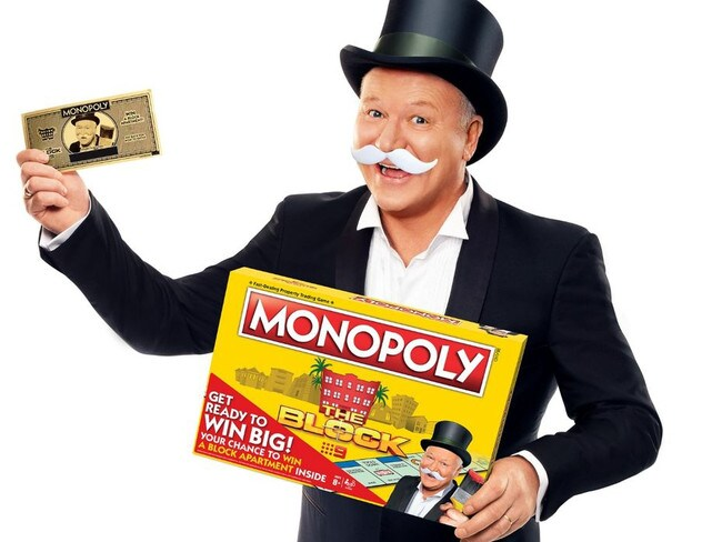 Scott Cam's new identity as Rich Uncle Pennybags. Picture: Nine