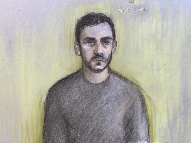 Maurice Robinson, 25, appeared in court on Monday via videolink. Picture: Elizabeth Cook/PA via AP.