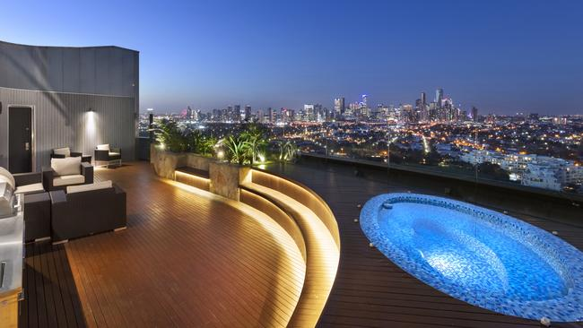 The Port Melbourne penthouse is on the market for $18 million.