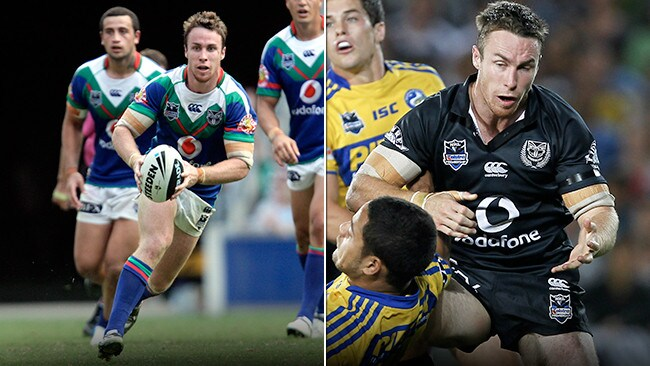 975f4f116 James Maloney pictured wearing two of the Warriors 127 jerseys from the  last five years.