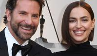 """Best Actor nominee for """"A Star is Born"""" Bradley Cooper (L) and his wife Russian model Irina Shayk arrive for the 91st Annual Academy Awards at the Dolby Theatre in Hollywood, California on February 24, 2019. (Photo by Mark RALSTON / AFP)"""