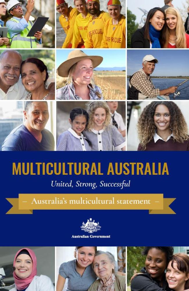 The cover of the latest multicultural statement released by Malcolm Turnbull.