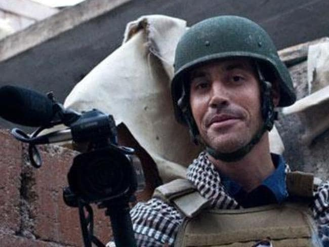 Disturbing ... US journalist James Foley was abducted in Syria in 2012 and recently beheaded. Picture: Twitter
