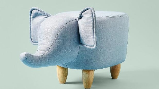 The original elephant ottoman sold out in weeks when first released in 2018. Picture: Big W