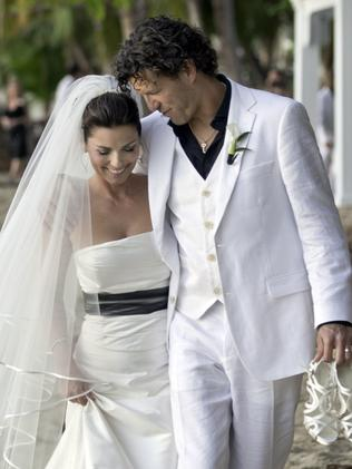 With her new husband Frederic Thiebaud on their 2011 wedding day. Picture: AP