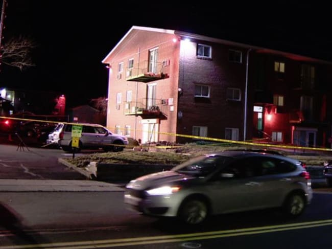 The apartment block where the killings took place. Picture: ABC