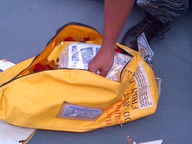 Items found ... during search operations for AirAsia flight QZ8501. Picture: AFP