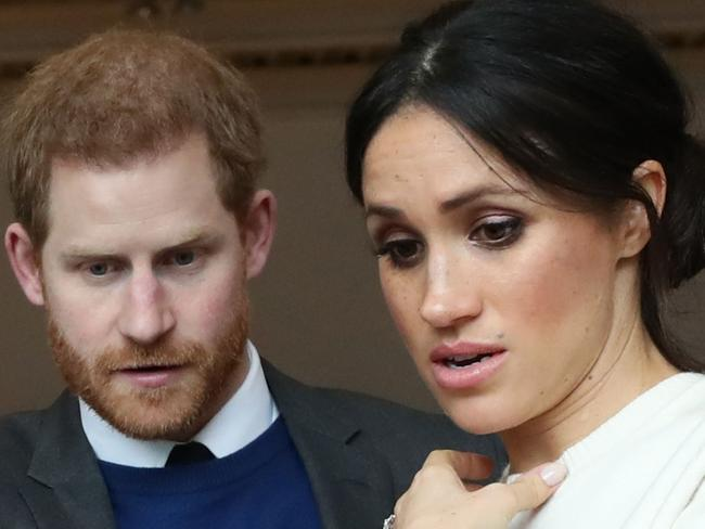 Harry and Meghan will spend their first Valentine's Day as a married couple apart. Picture: Niall Carson/Pool/Getty Images