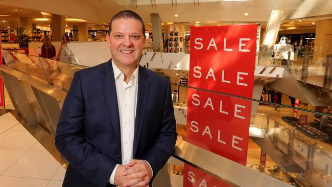 Myer stores general manager Tony Sutton sent the memo to concessions staff. Picture: Stuart McEvoy