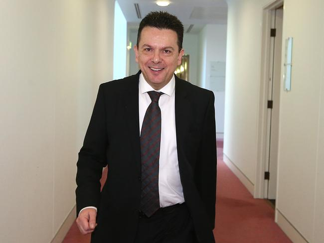 Senator Nick Xenophon at Parliament House in Canberra. Picture Kym Smith