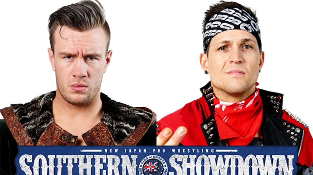 Robbie Eagles will challenge for the IWGP Junior Heavyweight Championship at Southern Showdown in Melbourne. Graphic via njpw1972.com.