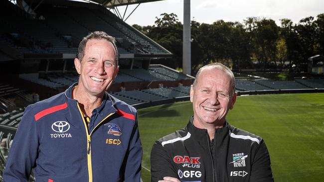 Showdown 46 coaches Don Pyke and Ken Hinkley. Picture SARAH REED