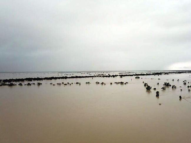 A flood-affected area near Julia Creek township in Queensland. Picture: Anthony Anderson/AFP