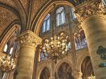Interior view of Notre Dame in HDR, Paris, France. Picture: Alamy