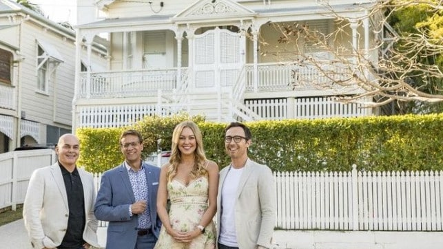 Love It or List It's Neale Whitaker and Andrew Winter with homeowners Erin and Tom Brown. Picture: Foxtel