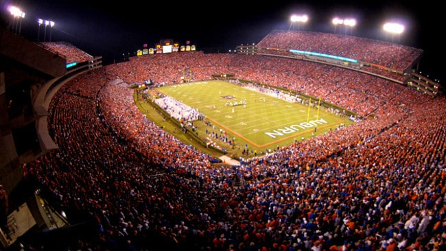 Jordan-Hare Stadium in Alabama.