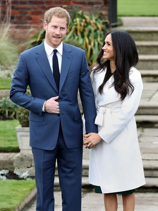 Prince Harry and Meghan Markle publicly announced their engagement at The Sunken Gardens at Kensington Palace last year. Picture: Chris Jackson/Getty Images