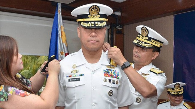 Giovanni Bacordo gets his vice-admiral shoulder boards in January.