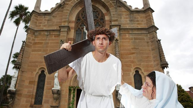 The Good Friday Way of the Cross Walk in Hunter's Hill on Sydney's north shore recreates Jesus' path to his execution.