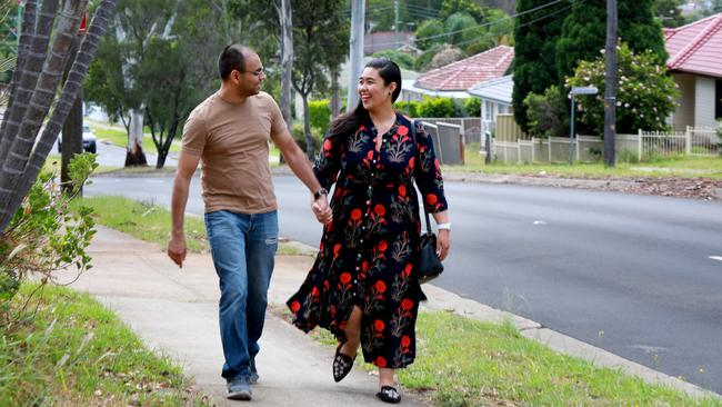 Puneet and Giecy Sharma love calling western Sydney home. Picture: Angelo Velardo