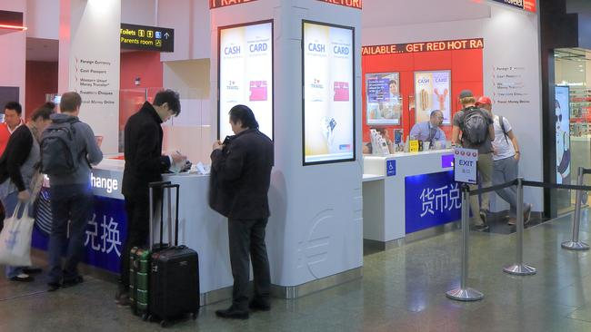 Currency exchanges at airports are notorious for ripping off consumers.