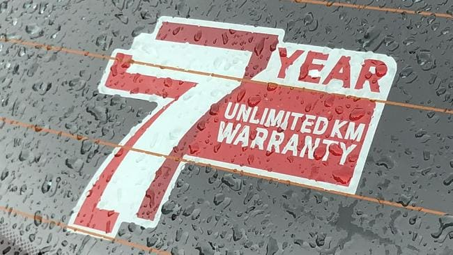 The ace up Kia's sleeve: seven-year factory-backed warranty coverage is the best in the business. Picture: Supplied.