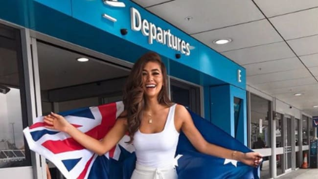 Francesca Hung departing Sydney and off to represent Australia. Image: Instagram.