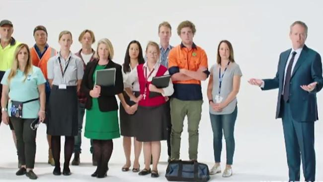 Bill Shorten Labor ad features mostly white people