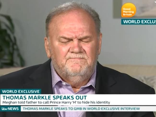 Thomas Markle gave his first interview since Meghan and Harry's wedding to ITV's Good Morning Britain. Photo: ITV