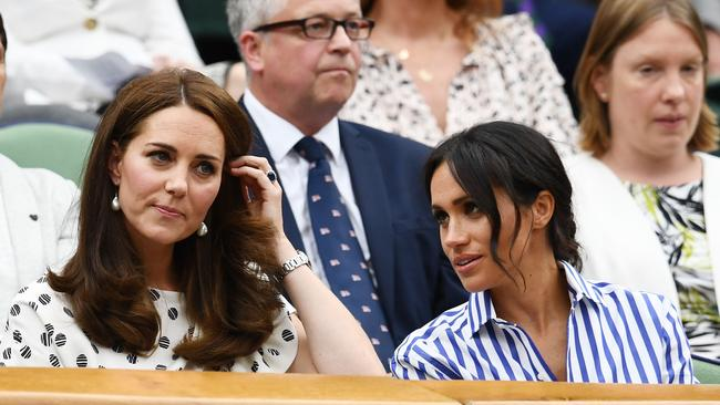 Kate took Meghan to Wimbledon last year. Picture: Clive Mason/Getty Images