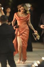 Paris Jackson leaves the Vanity Fair party with her heels in hand. Picture: Max Lopes- Vasquez-clint / BACKGRID