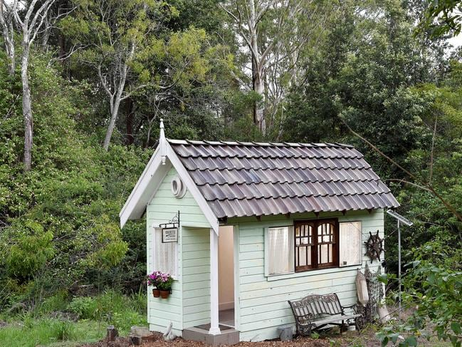 Exterior of the tiny house Wayne Sherriff built with his daughter Emily