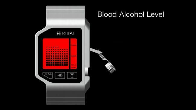 LCD watch gives an indication of your blood alcohol content