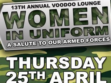 The women in uniform event at the Voodoo Lounge. Picture: Facebook