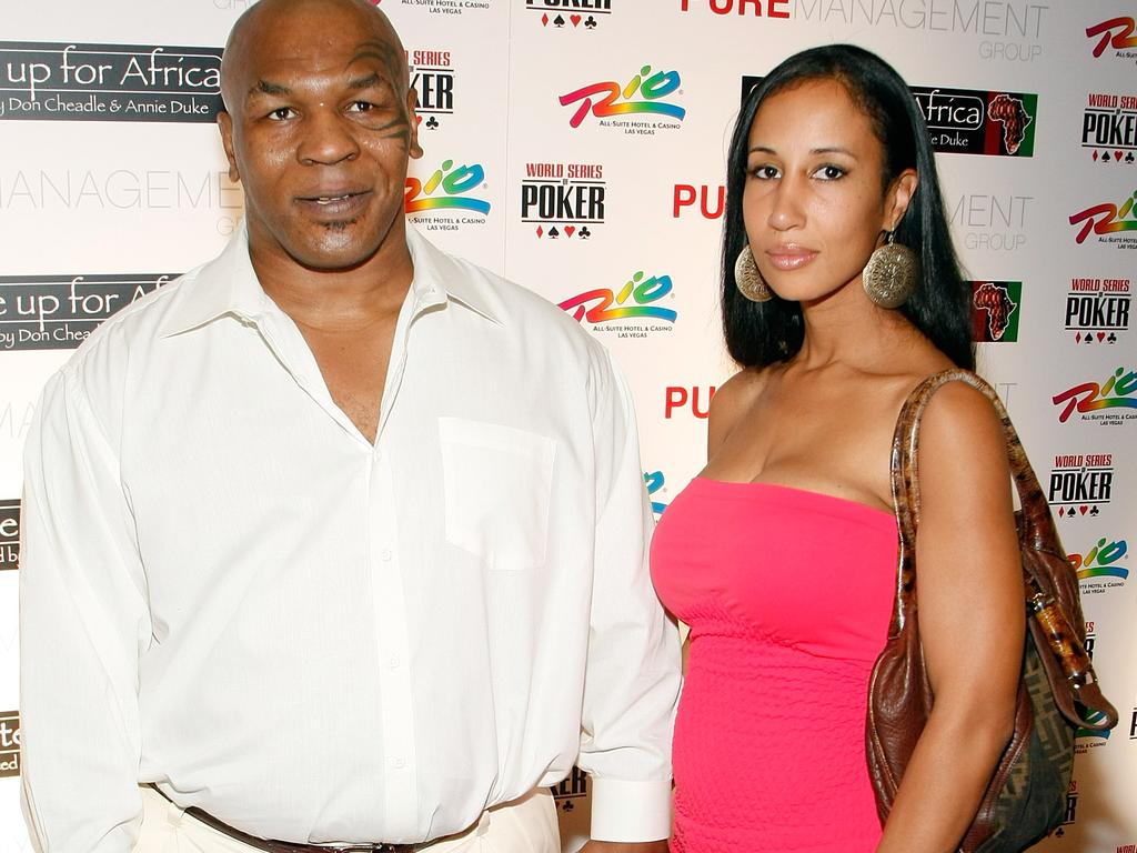 Former boxer Mike Tyson and his wife Lakiha Spicer in 2009.