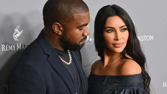 Kardashian officially filed for divorce from West in March 2021. Picture: AFP.